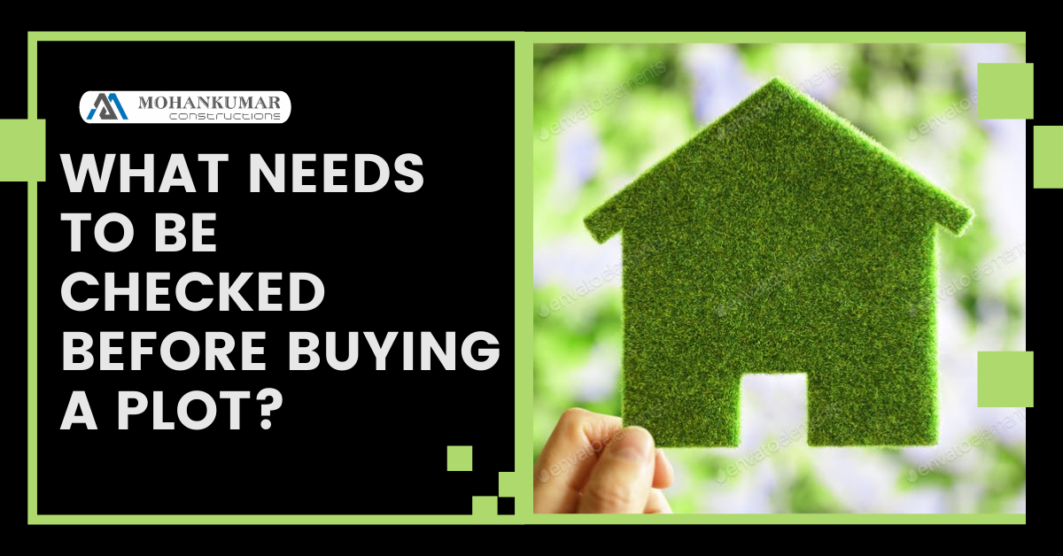 What needs to be checked before buying a plot?