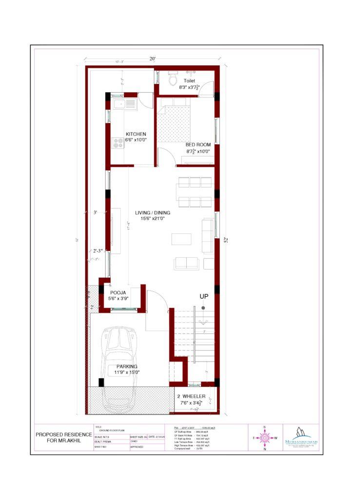 duplex house First floor plan